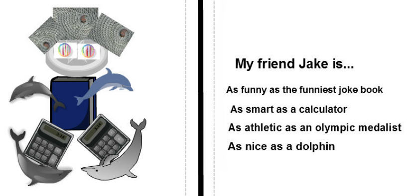 student example of friend simile