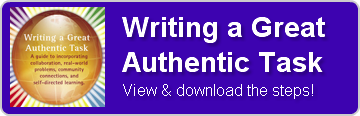 write an authentic task button