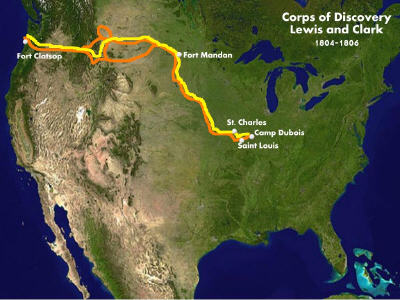 Map of Lewis and Clark's Expedition