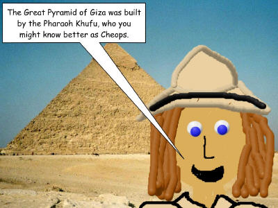Student archeaologist at Pyramid of Cheops