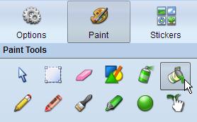Paint bucket tool on Paint panel