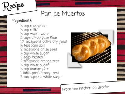 Recipe  - Pan de Muertos