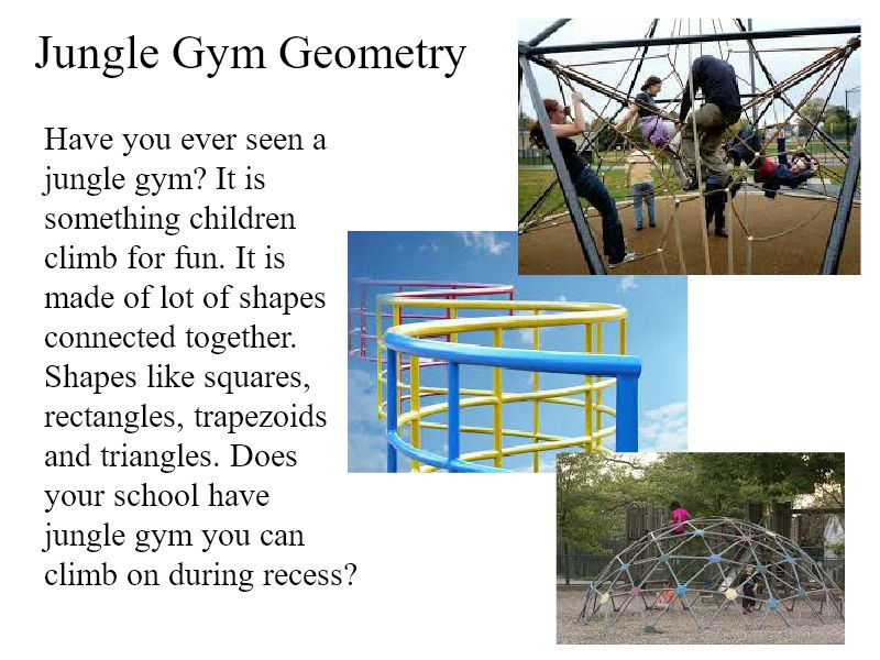 Wixie activity: jungle gym geometry