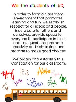 classroom constitution