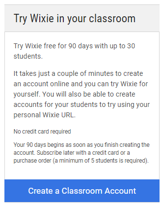 Try Wixie in your classroom