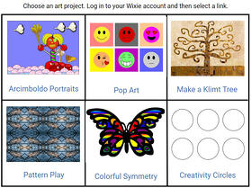 wixie-art-choice-board-elementary