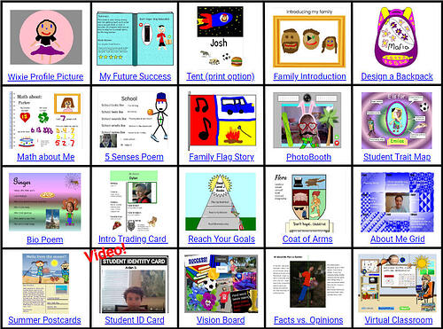 wixie-choice-board-back-to-school