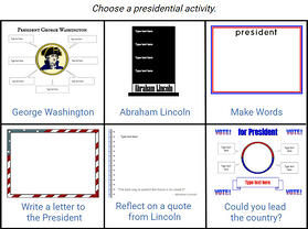 wixie-choice-board-presidents-day