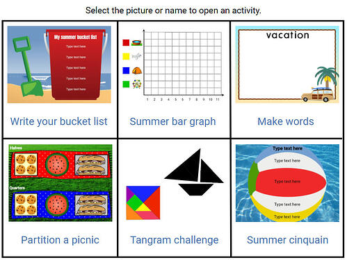 wixie-choice-board-summer-fun