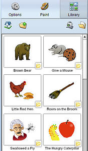 wixie-library-stickers-books-retell
