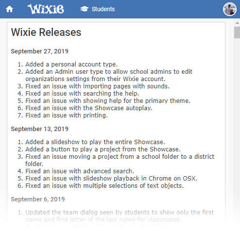 wixie-releases