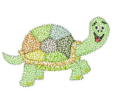 wixie-sample-pointillism-turtle