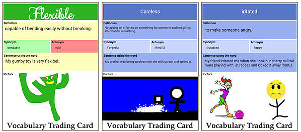 wixie-sample-vocabulary-trading-cards