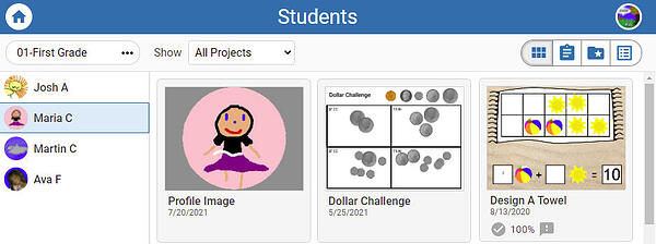wixie-student-project-view