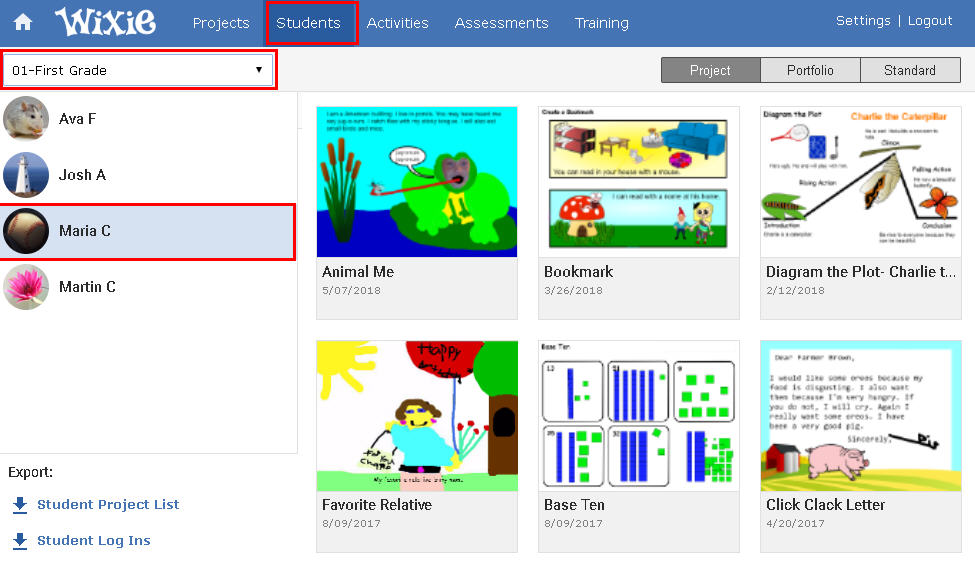 wixie-student-projects