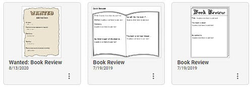 wixie-templates-book-review