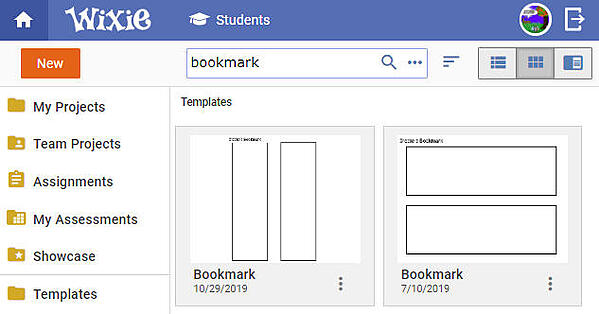 wixie-templates-bookmark