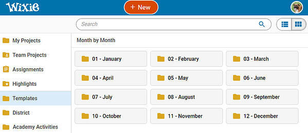wixie-templates-browse-month-by-month-1