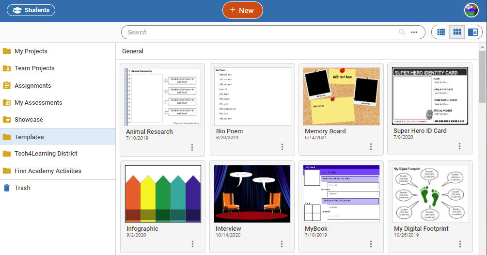wixie-templates-general-first-projects