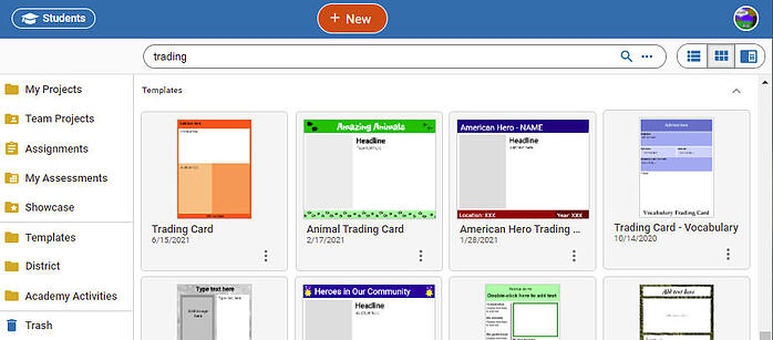 wixie-templates-trading-cards