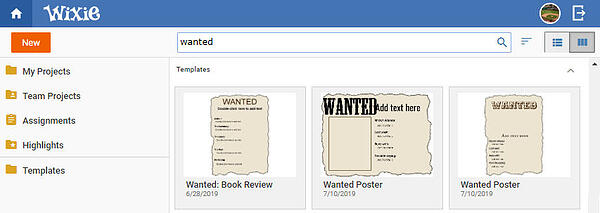 wixie-templates-wanted