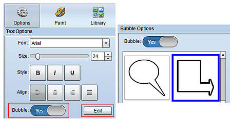 wixie-text-bubble-options