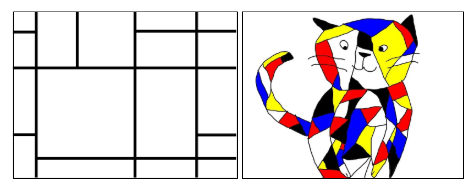 sample Wixie Mondrian-style art